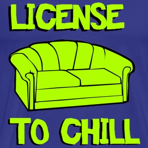 License to chill T-shirts - Mannen Premium T-shirt