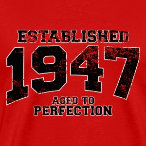 established 1947 - aged to perfection (dk) T-shirts - Herre premium T-shirt