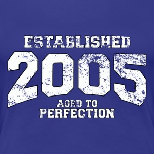 established 2005 - aged to perfection (dk) T-shirts - Dame premium T-shirt