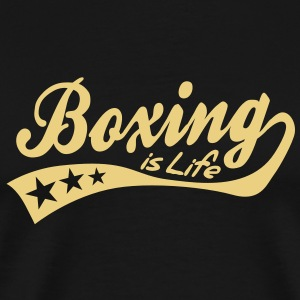 boxing is life - retro T-Shirts - Men's Premium T-Shirt