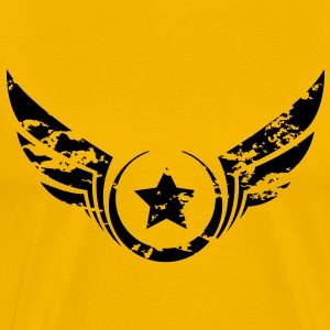 Winged Star dirty - Männer Premium T-Shirt
