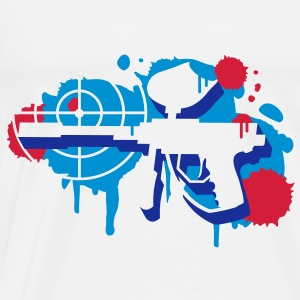 A paintball gun with a crosshair as a graffiti T-Shirts - Men's Premium T-Shirt
