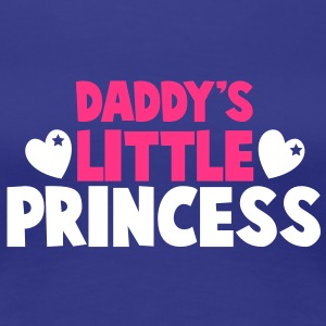 Daddy's little PRINCESS with cute love hearts T-Shirts - Women's Premium T-Shirt