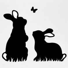 Two rabbits watching a butterfly T-Shirts