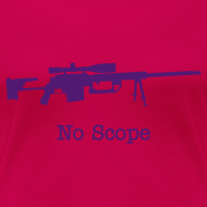 Design ~ Womens Tee : No Scope (Purple)