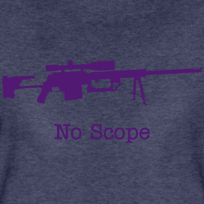 Womens Tee : No Scope (Purple)