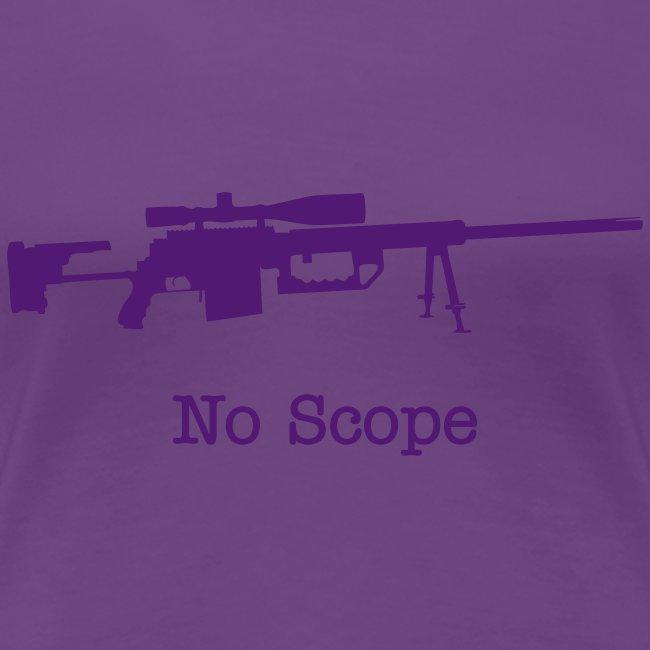 Womens Tee : No Scope (Purple)