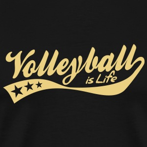 volleyball is life - retro T-shirts - Mannen Premium T-shirt