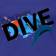 Design ~ Womens Tee : Dolphin Dive