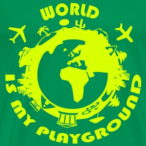World Is My Playground T-Shirts - Men's Premium T-Shirt