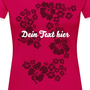 hawaii flower T-Shirts - Frauen Premium T-Shirt
