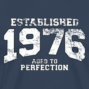 established 1976 - aged to perfection (dk) T-shirts - Herre premium T-shirt