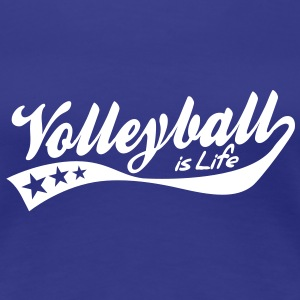 volleyball is life - retro T-Shirts - Women's Premium T-Shirt