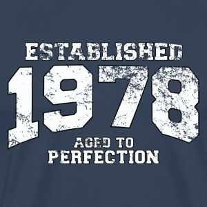 Geburtstag - established 1978 - aged to perfection - Männer Premium T-Shirt