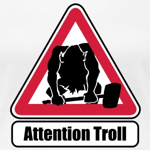 Attention troll - Women's Premium T-Shirt