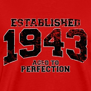 established 1943 - aged to perfection (uk) T-Shirts - Men's Premium T-Shirt