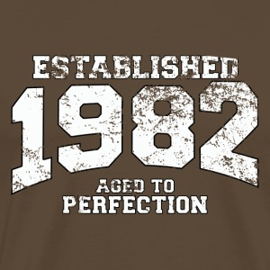 established 1982 - aged to perfection (es) Camisetas - Camiseta premium hombre