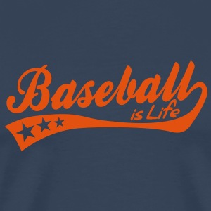baseball is life - retro T-shirts - Mannen Premium T-shirt