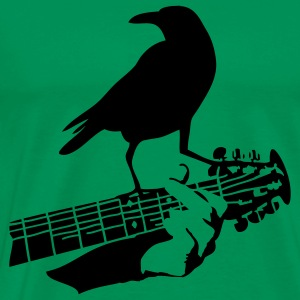 crow on the guitar - Maglietta Premium da uomo
