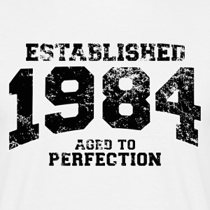 established 1984 - aged to perfection(nl) T-shirts - Mannen T-shirt