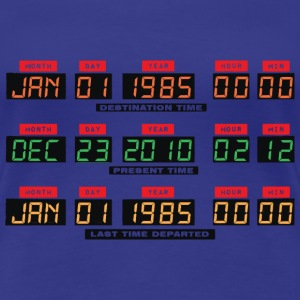 Back To The Future DeLorean Time Travel Console T-Shirts - Women's Premium T-Shirt