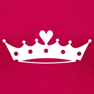 Crown with Heart EN T-Shirts - Frauen Premium T-Shirt