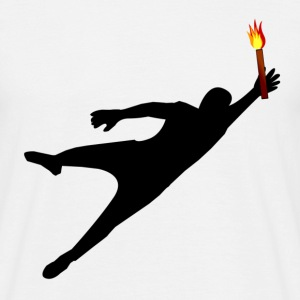 Goalkeeper with pyrotechnics - Men's T-Shirt
