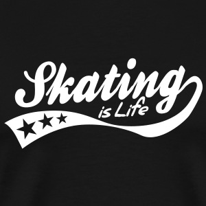 skating is life - retro T-Shirts - Men's Premium T-Shirt