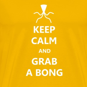 Keep Calm And Grab A Bong - Beer Bong T-Shirts - Men's Premium T-Shirt