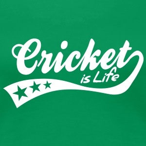 cricket is life - retro Tee shirts - T-shirt Premium Femme