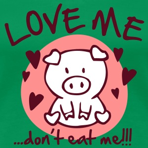love me, don't eat me T-Shirts - Frauen Premium T-Shirt