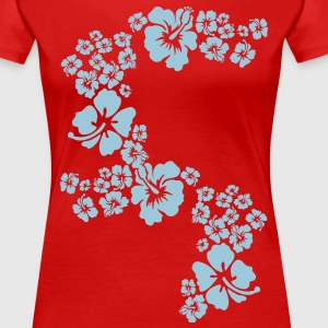 hawaii flower T-shirts - Vrouwen Premium T-shirt