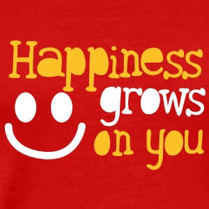 Happiness grows on you smiley face cute family T-Shirts - Men's Premium T-Shirt