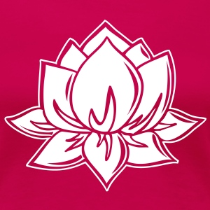 Lotus Flower, vector T-skjorter - Premium T-skjorte for kvinner