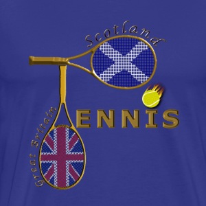 great britain scotland tennis T-Shirts - Men's Premium T-Shirt