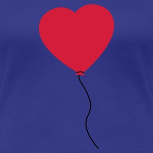 Love Heart Balloon T-skjorter - Premium T-skjorte for kvinner