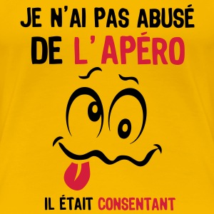 abuse alcool apero consentant smiley1 Tee shirts - T-shirt Premium Femme