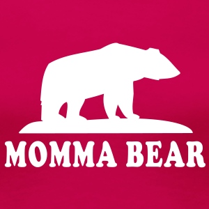 MOMMA BEAR T-Shirt WR - Premium T-skjorte for kvinner