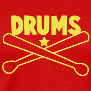 drums with drumsticks great for a MUSO T-Shirts - Men's Premium T-Shirt
