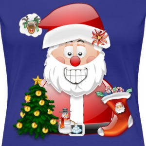 Merry Christmas Father Christmas Santa Scene - Women's Premium T-Shirt