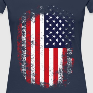 FLAG USA GRUNGE LOOK T-Shirts - Frauen Premium T-Shirt