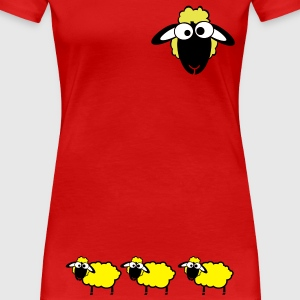 red flock sheep - Women's Premium T-Shirt