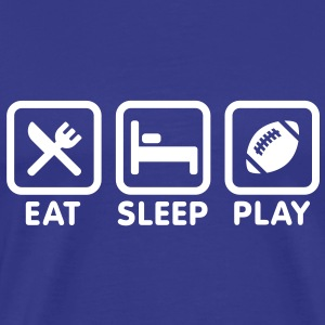 Eat Sleep Rugby - American Football Tee shirts - T-shirt Premium Homme