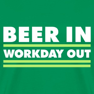 Beer in - Workday out 1_2c T-Shirts - Männer Premium T-Shirt