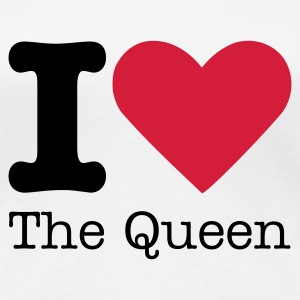 I Love The Queen T-shirts - Premium-T-shirt dam