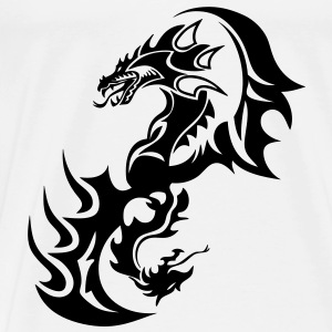 dragon tribal tattoo tatouage14 Tee shirts - T-shirt Premium Homme