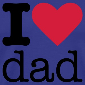 I Love Dad T-shirts - Mannen Premium T-shirt