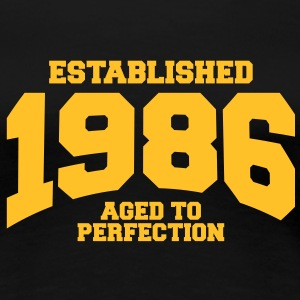 aged to perfection established 1986 (nl) T-shirts - Vrouwen Premium T-shirt