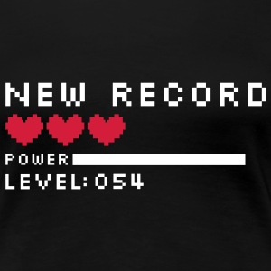 new record level 54 birthday design Geburtstag (es) Camisetas - Camiseta premium mujer