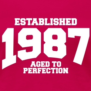 aged to perfection established 1987 (sv) T-shirts - Premium-T-shirt dam